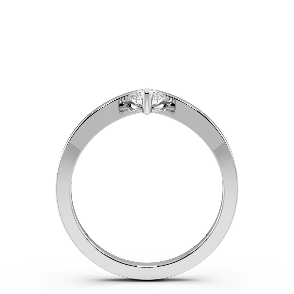 Delicate Wishbone Solitaire Diamond Engagement Rings