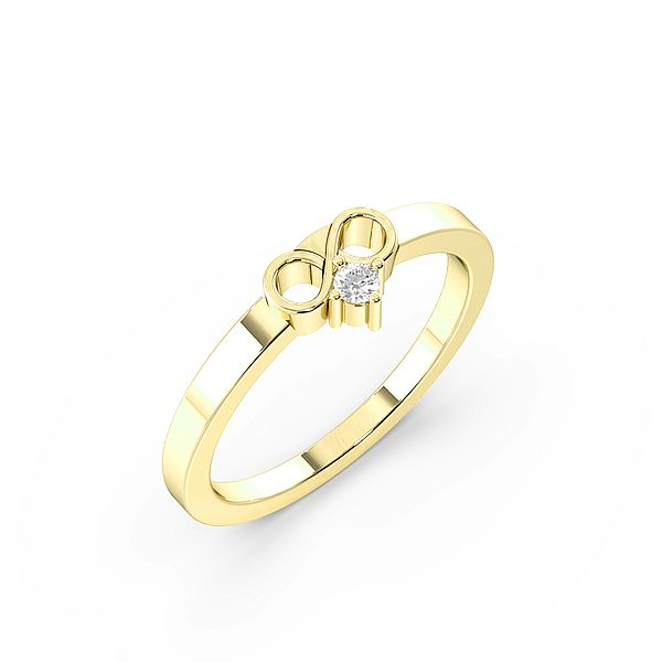 Infinity Solitaire Diamond Engagement Rings
