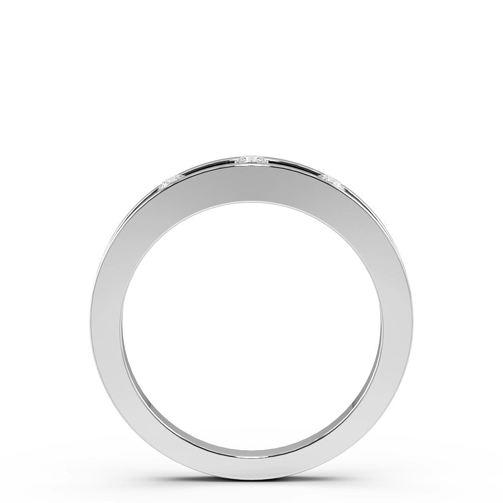 Open Channel 3 Diamond Womens Diamond Wedding Rings