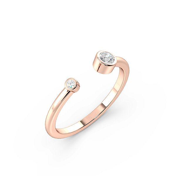 Two  Diamonds Open Ended Designer Diamond Ring