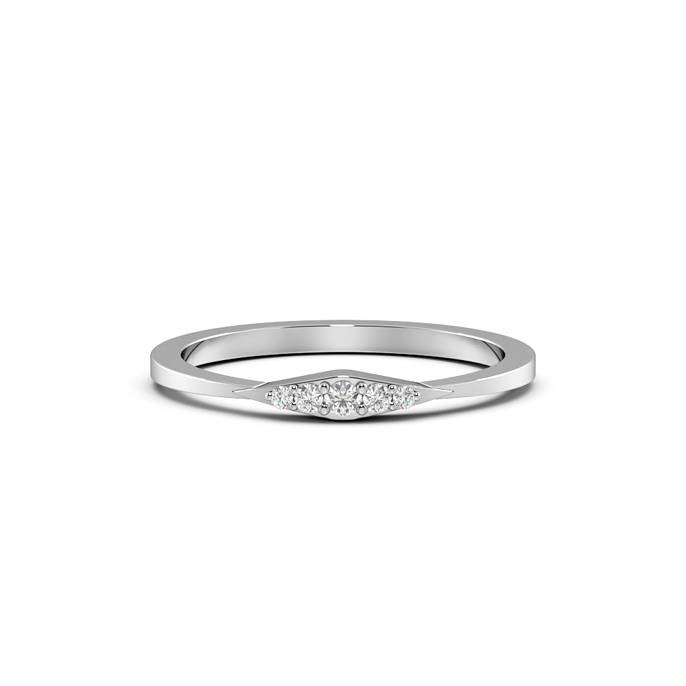 Pave Setting Delicate Cluster Designer Diamond Ring