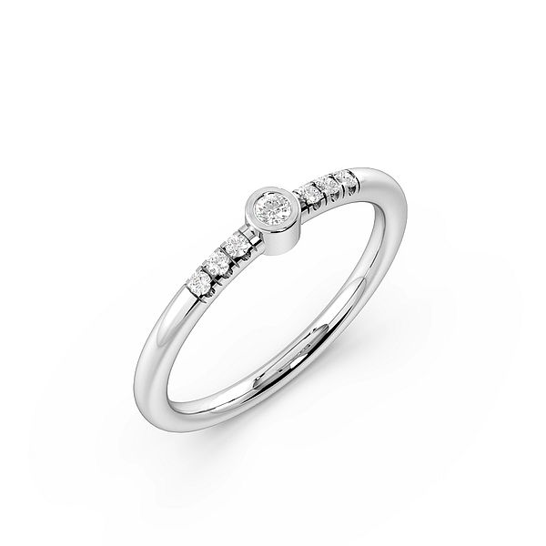 Bezel Setting Petit Classic Shoulder Diamond Engagement Rings