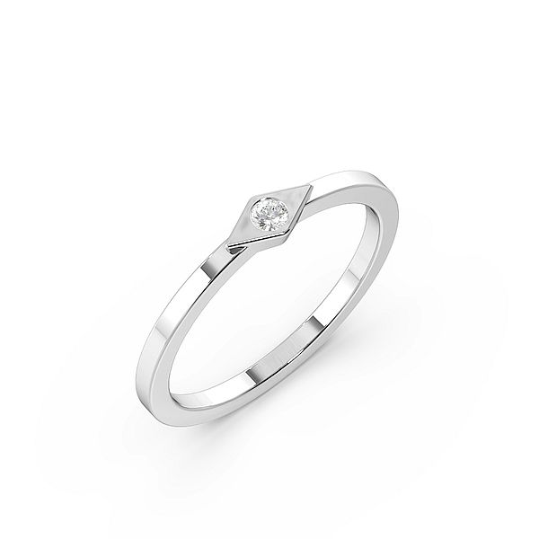 Bezel Setting Tiny Diamond Solitaire Engagement Rings