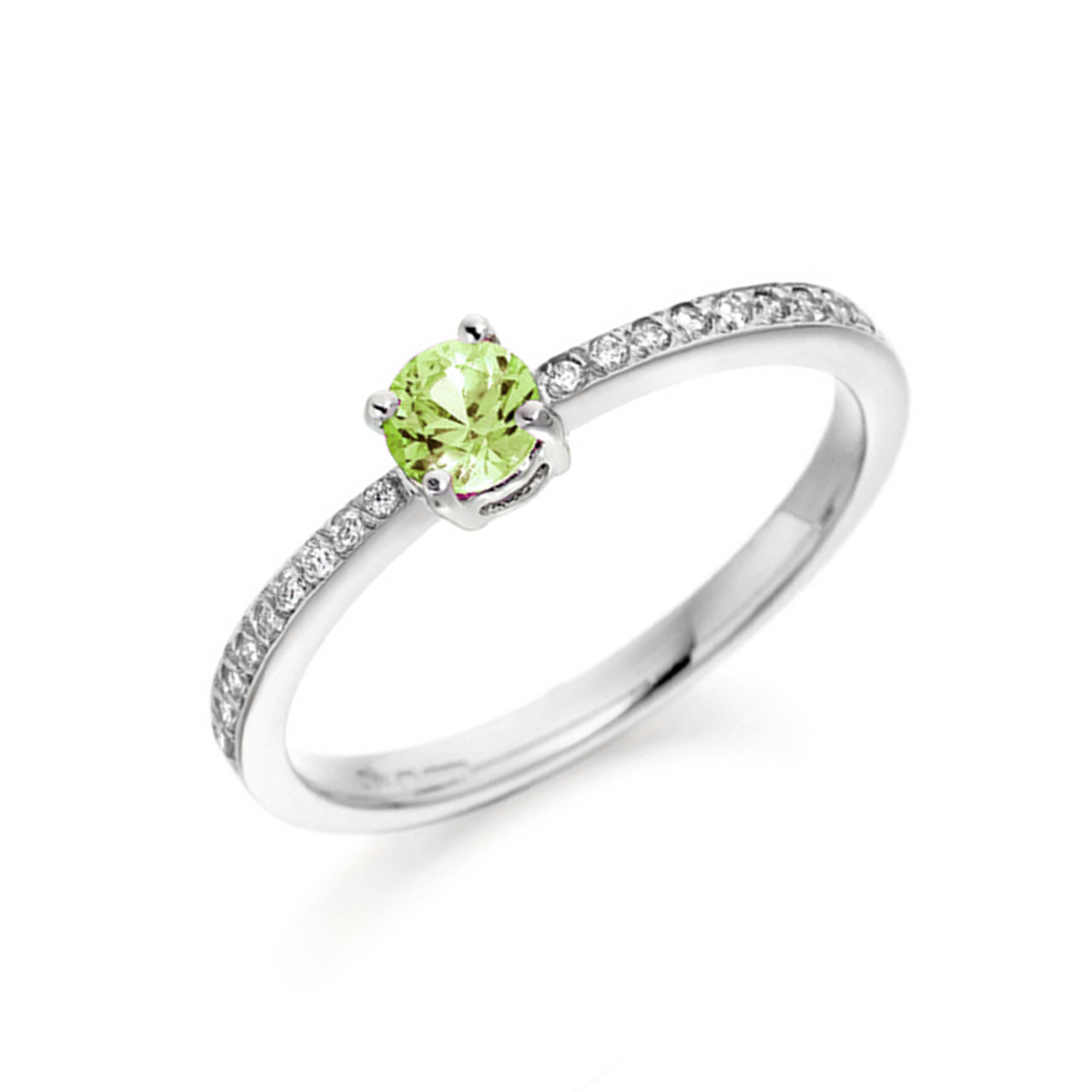 Round 4 Prong Cluster Side Stone Diamond Engagement Rings