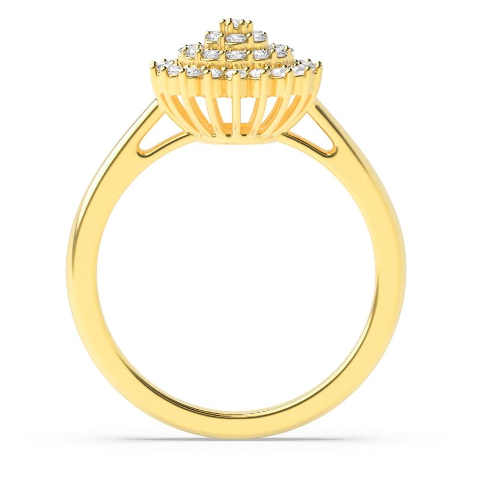 Round Pave Setting Big Cluster Designer Diamond Ring