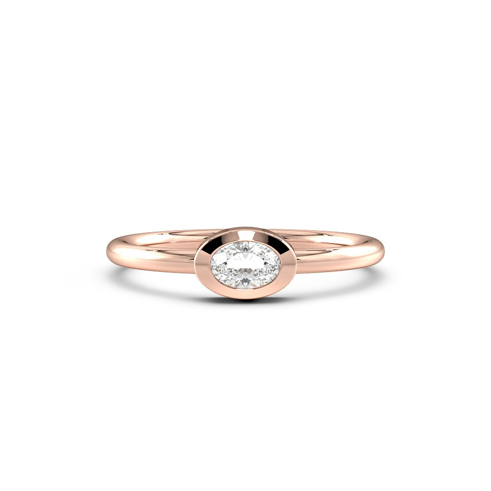 Petit Minimalist Solitaire Diamond Engagement Rings
