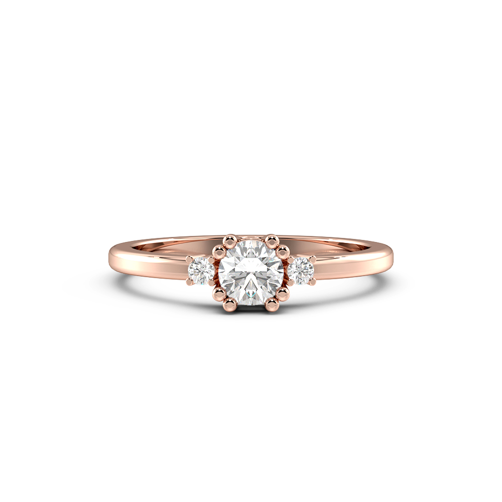 Double Claws Solitaire Diamond Engagement Rings