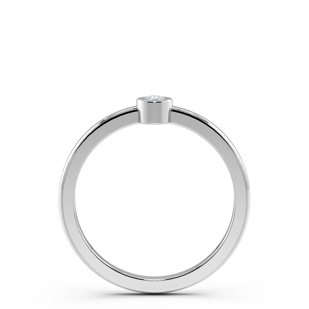 Minimalist Classic Solitaire Diamond Engagement Rings