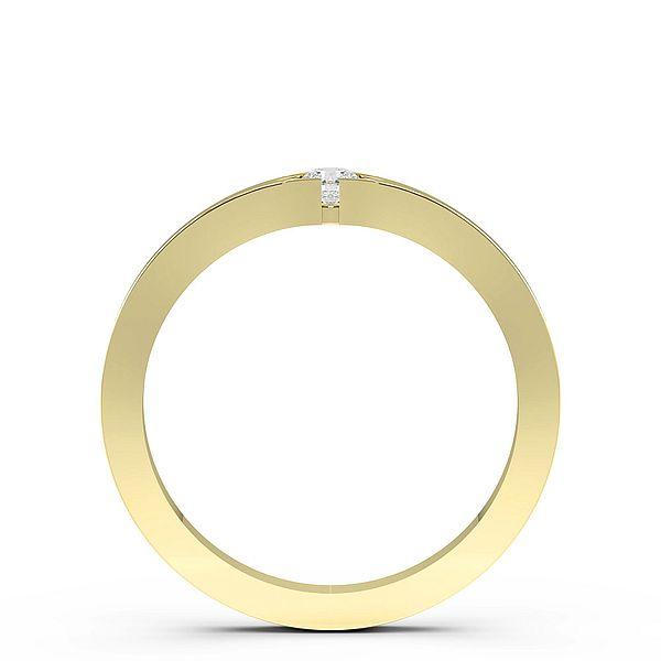 Flush Setting Minimalist Solitaire Diamond Engagement Ring