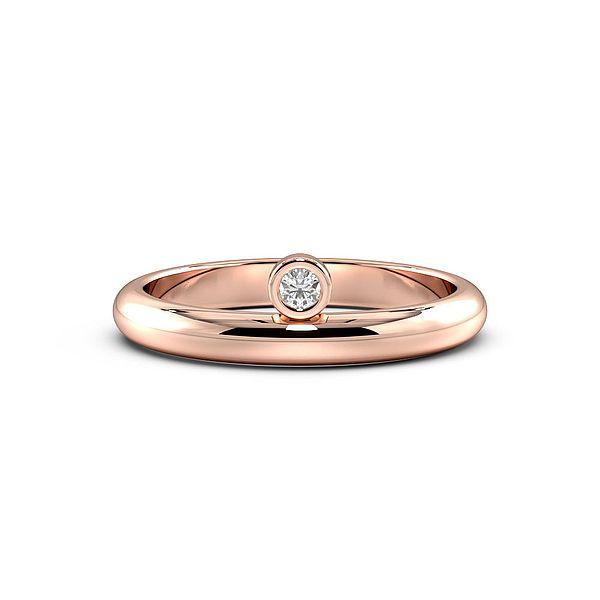 Bezel Setting Designer Solitaire Diamond Engagement Ring