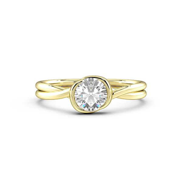 Channel Set Stylish Solitaire Diamond Engagement Ring