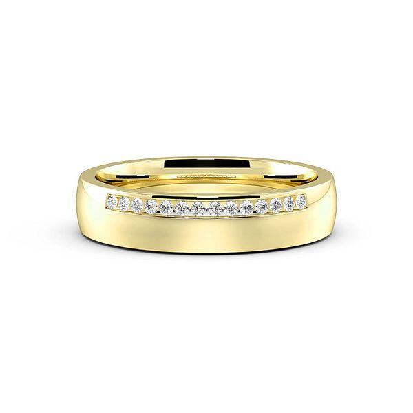 Pave Setting Side Row Diamond Set Wedding Rings (1.7mm)