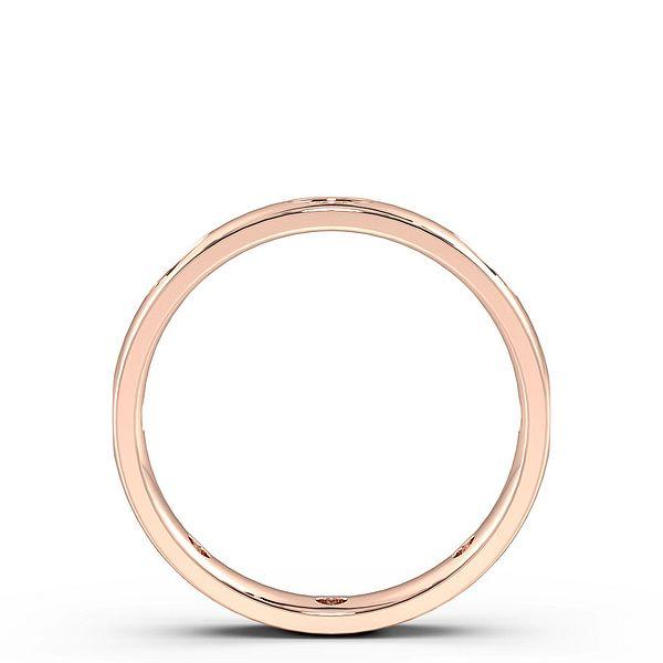 Flush Set Marquise Shape Womens Diamond Wedding Rings (1.4mm)