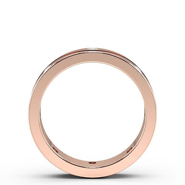 Flush Setting Wave Line Womens Diamond Wedding Rings (1.8mm)