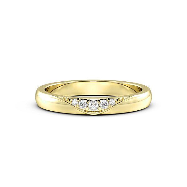 Pave Setting Modern Womens Diamond Wedding Rings (1.8mm)