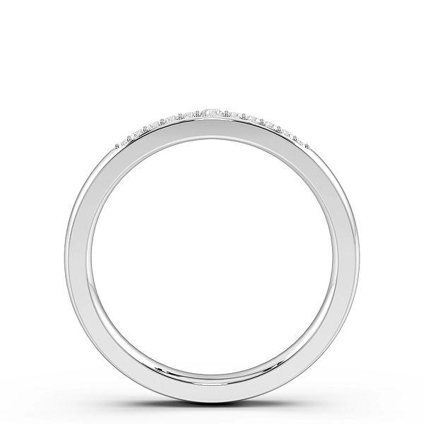 Pave Setting Designer Womens Diamond Wedding Rings (1.7mm)