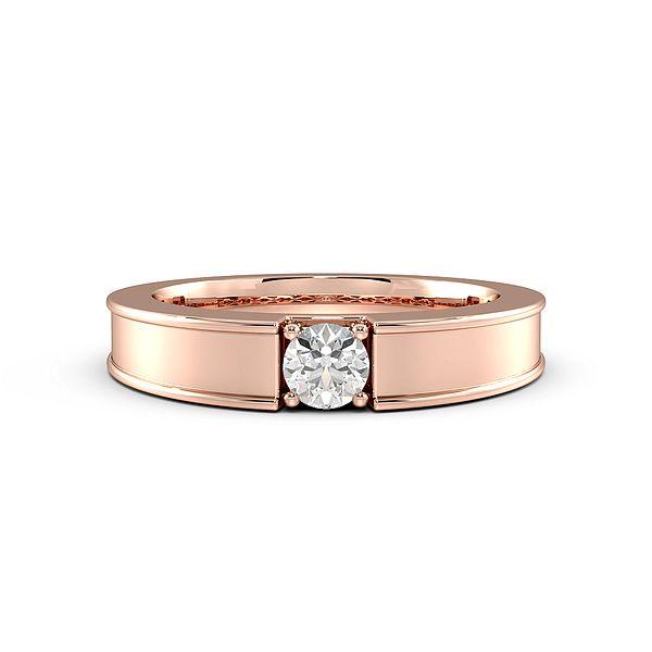 Channel Set Single Diamond Mens Diamond Rings (4mm)