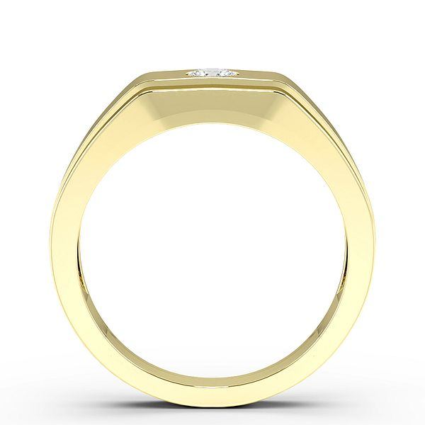 Flush Setting Single Diamond Mens Diamond Rings (3.3mm)