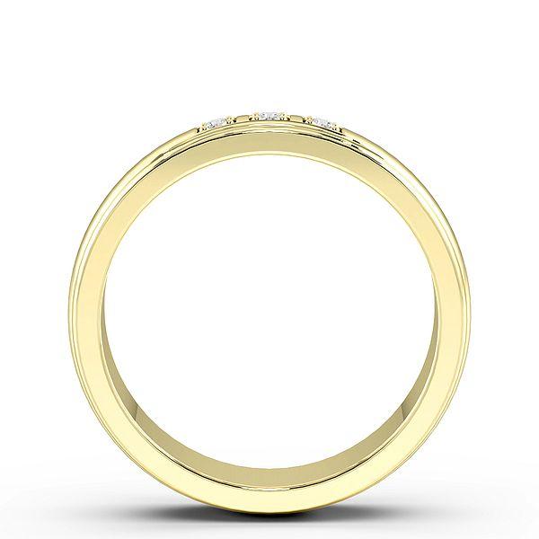 Pave Setting 3 Stone Mens Diamond Set Wedding Rings (1.8mm)