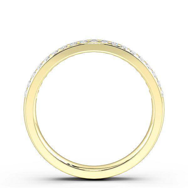 Flush Setting Diamond on Side Womens Wedding Rings (1.8mm)