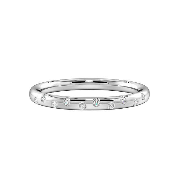 Flush Setting Multiple Diamonds Womens Wedding Rings (1.7mm)