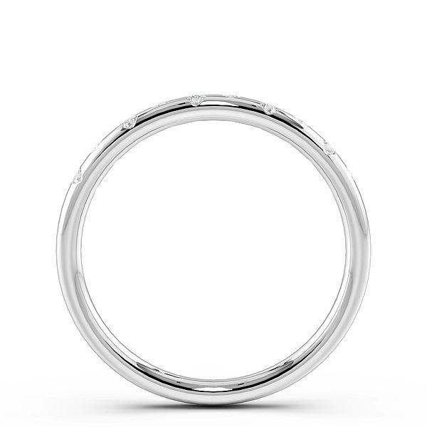 Flush Setting Multiple Diamonds Womens Wedding Rings (1.7mm)