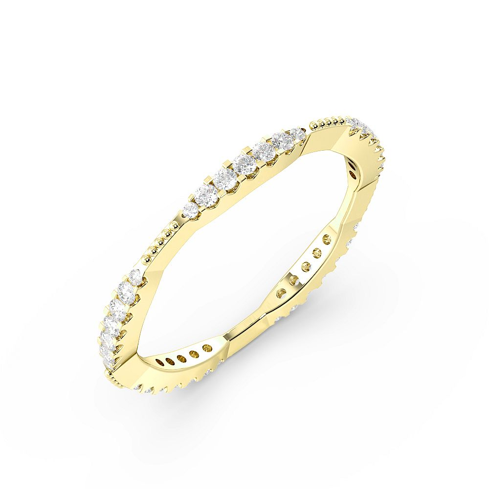 Pave Setting Graduating Clusters Full Eternity Diamond Rings (1.6mm)