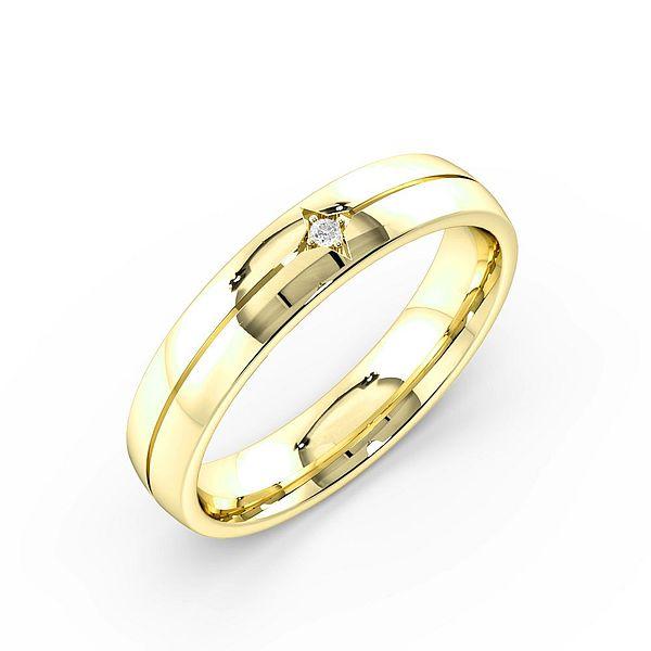 Flush Setting Wide Band Mens Diamond Set Wedding Rings (1.7mm)
