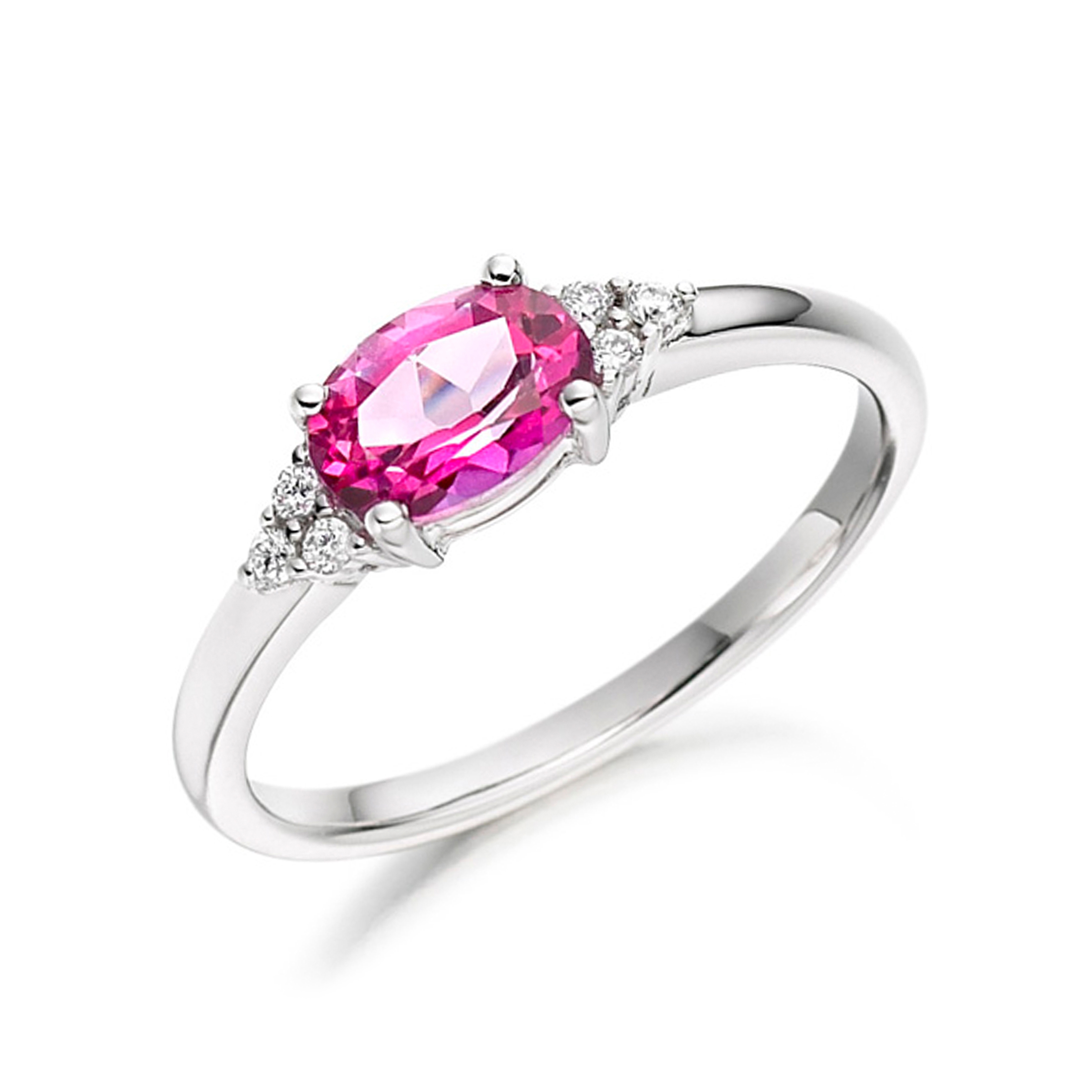 Pave Setting Leaf Stack Full Eternity Diamond Rings (3mm)
