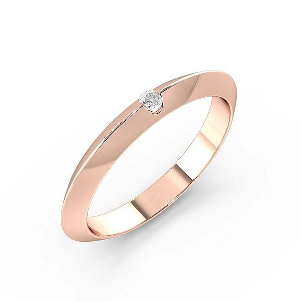 Flush Setting Knife Edge Diamond Wedding Rings (1.9mm)