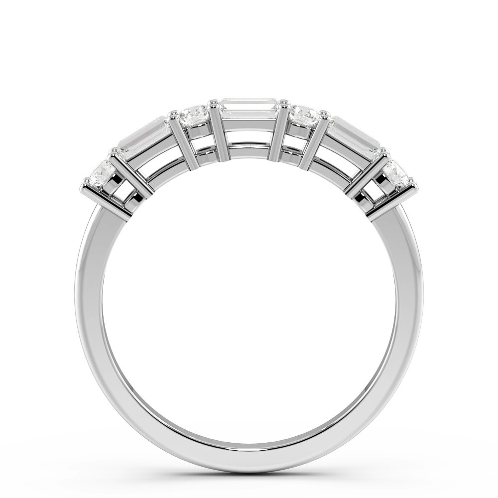 Baguette and Round Cut 7 Stone Diamond Rings (2.6mm)