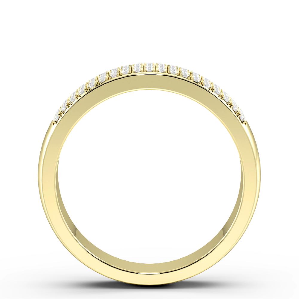 Pave Setting 4 Rows Half Eternity Diamond Rings (5.2mm)