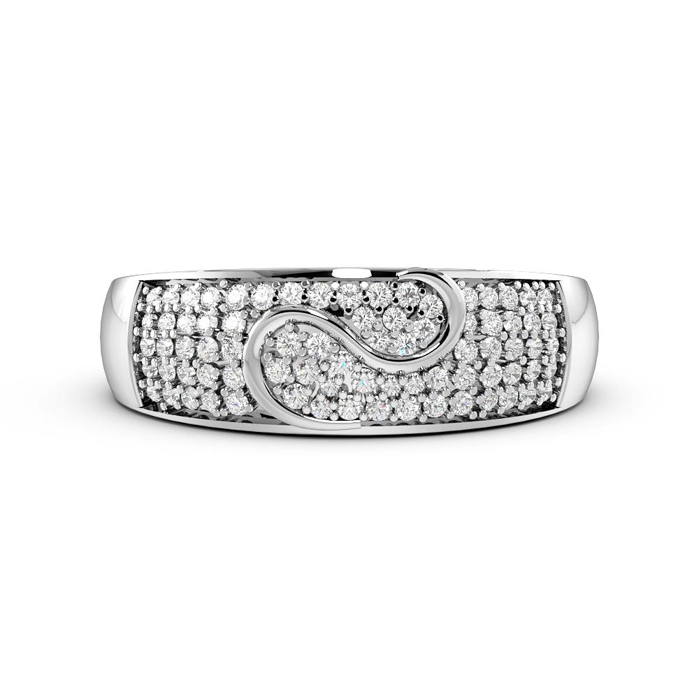 Pave Setting Modern Cluster Designer Diamond Rings