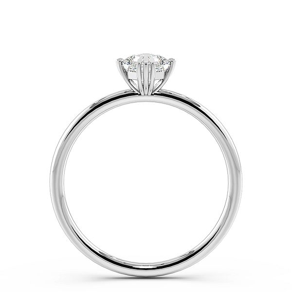 Princess Shape Tri Claws Solitaire Diamond Engagement Ring