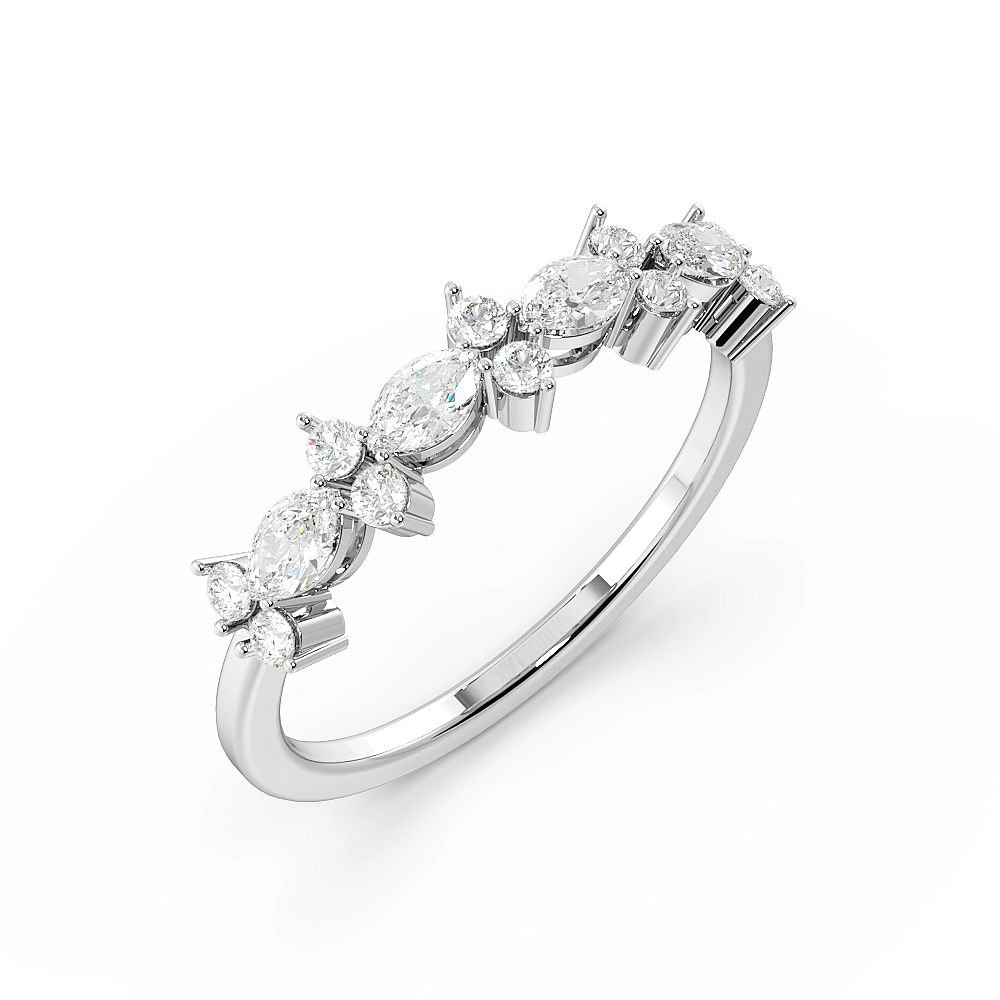 Marquise/Designer Half Eternity Diamond Rings (4.5mm)