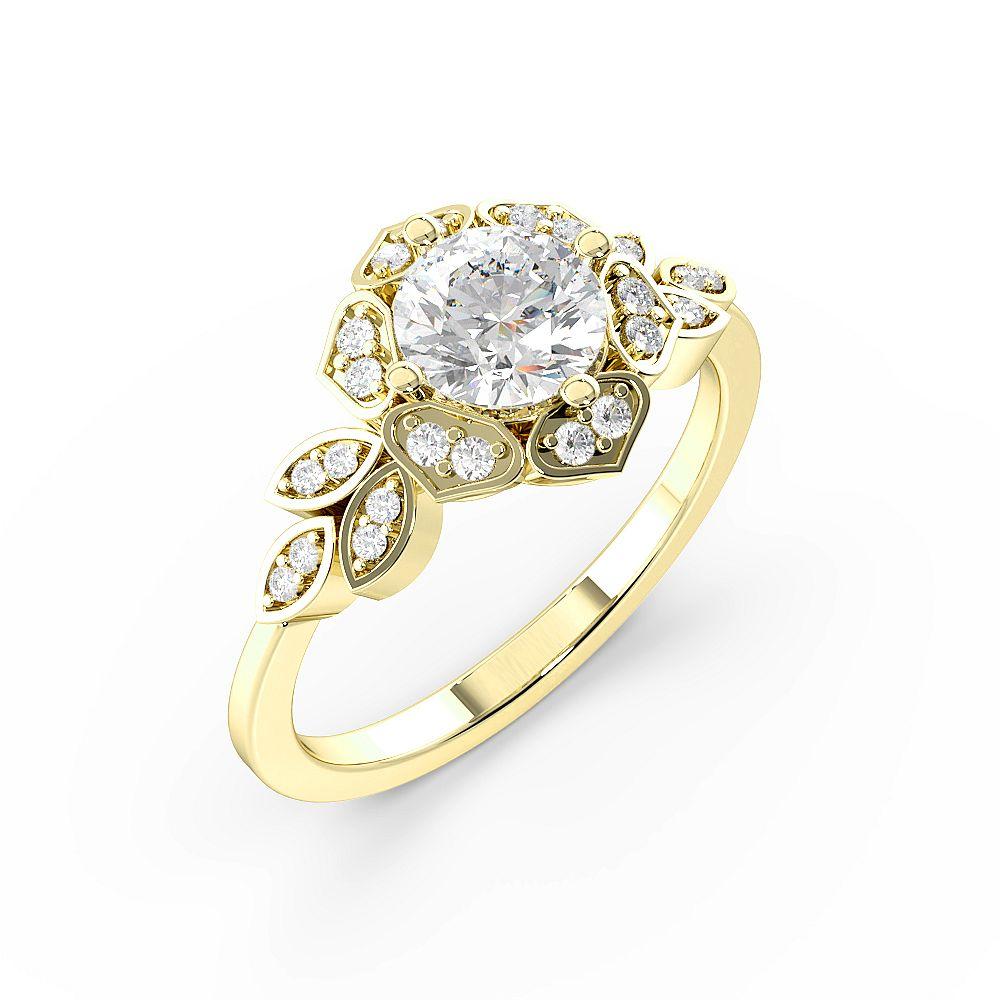 Round Cut Modern Style Designer Diamond Rings (10.8mm)