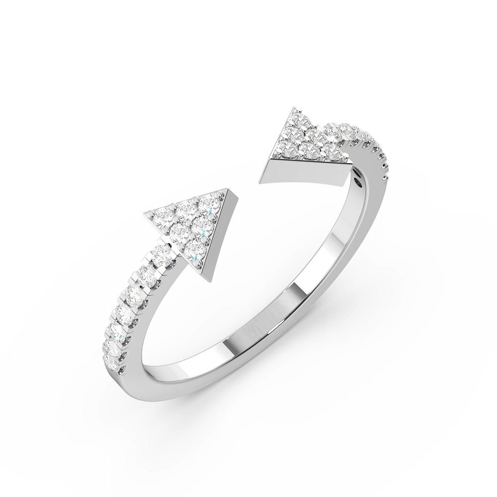 Pave Setting Designers Open Designer Diamond Rings (5.2mm)