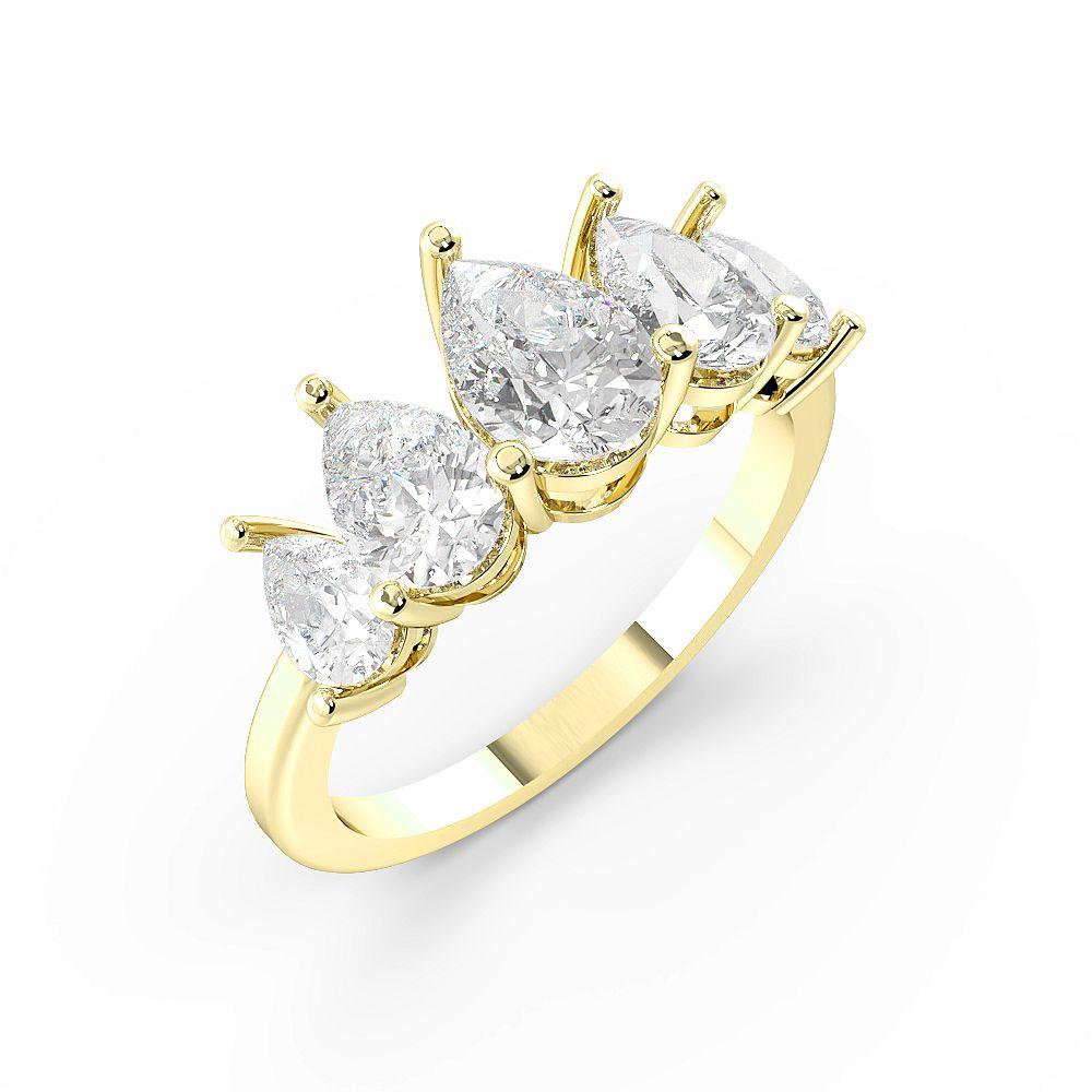 Pear Shape Graduating Five Stone Diamond Rings (8.25mm)