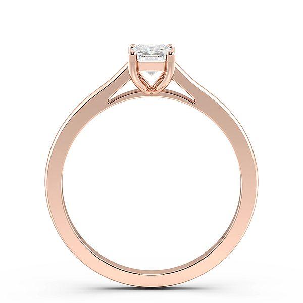 emerald Raise Shoulder Solitaire Diamond Engagement Ring