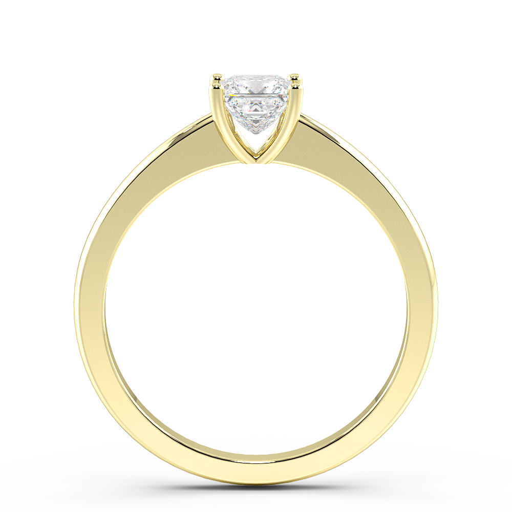 Princess Solitaire Diamond Engagement Ring In Open Setting