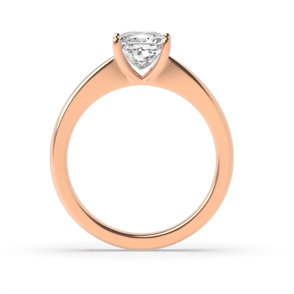 Princess Solitaire Diamond Engagement Ring In Narrow Shoulder