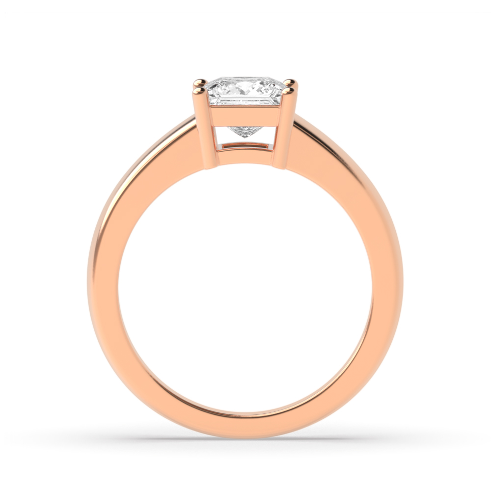 Princess Solitaire Diamond Engagement Ring In Basket Setting Abelini