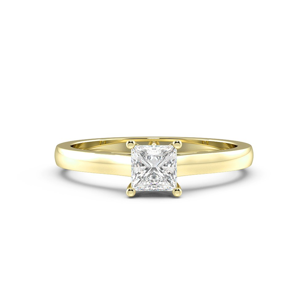 Princess Solitaire Diamond Engagement Ring Classic Style